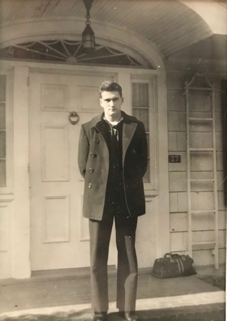 Richard Smith Sr. in 1944, in front of his home in Maplewood, New Jersey